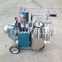 Single Bucket Portable Goat Milking Machine with Piston Pump