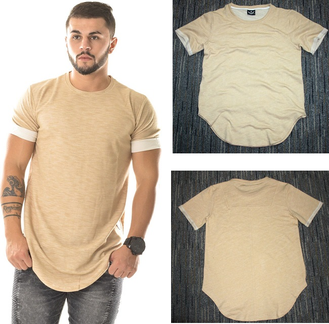 beige summer hip hop t shirt kanye west tyga t shirt men plain t ...
