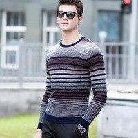 All Men S Casual Sweater Slim Young T Shirt Long Sleeve Shirt Sleeve Head Stripes Men