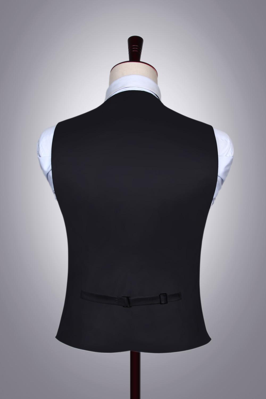 Men's Classic Paisley Jacquard Waistcoat Vest Handkerchief Party wedding Tie vest Suit  Pocket Square Set 1