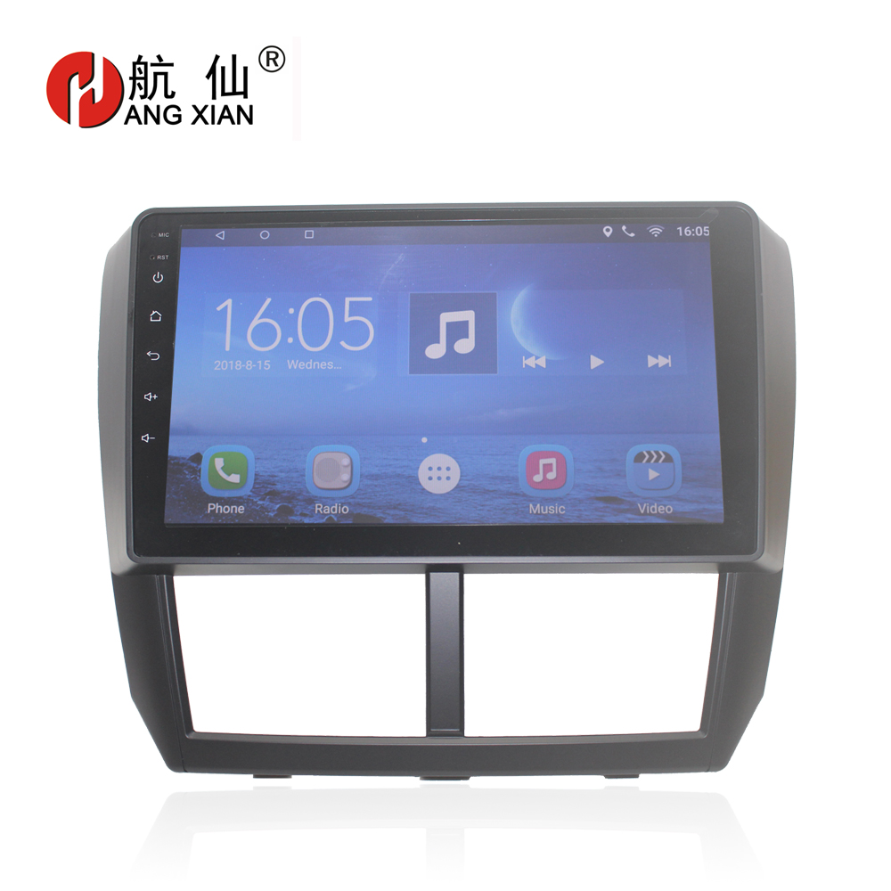 HANG XIAN Android 7.0 Car DVD Multimedia Player GPS for Subaru Forester 2008 2009 2010-2012 audio car radio stereo navigation