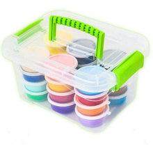 Storage Box Plasticine Air Dry Jumpimg Colored Clay Cold Porcelain Play Dough Playdough Doh Children Foam