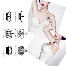 Waterproof Temporary Tattoo Stickers Royal Crowns King Queen Designs Body Art for Woman Man Make Up Tool(China)