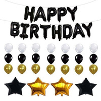 Birthday Party Balloon Decoration Accessories HAPPY BIRTHDAY Letter Foil Balloon Latex Balloons Birthday Party Decor Baby Shower