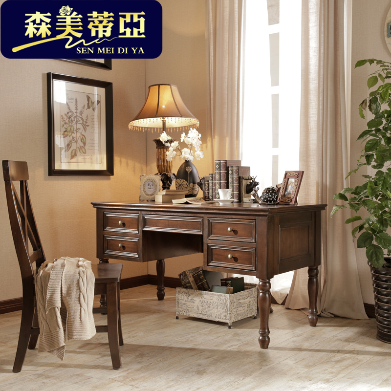 14 m american country office desk solid wood study table writing brain antique european home antique office table