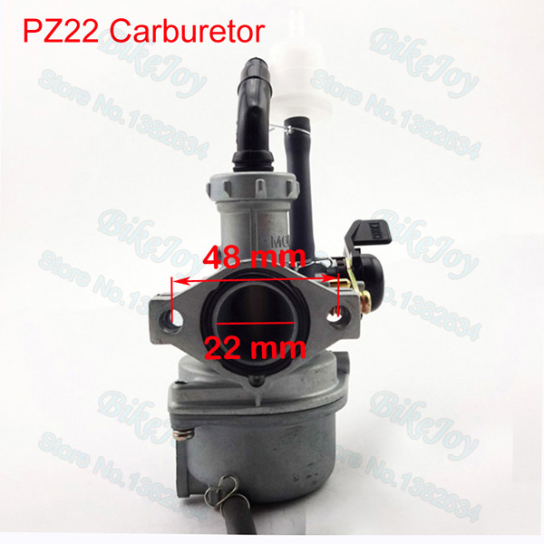 US $23 45 11% OFF|PZ22 Carburetor 22mm Carb Intake Pipe 38mm Air Filter For  110cc 125cc ATV Quad Pit Pro Dirt Trail Bike-in Carburetor from