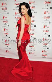 Dita Von Teese Sexy Vintage Heart Truth Red Dress Collection Red Carpet Dresses Pga018 Dresses Embroidery Dress Sweetheartdresses Diamond Aliexpress