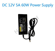 DC 12V 5A 60W LED Power Supply Charger AC Converter Adapter Transformer for LCD Monitor or laptop or CCTV DVR 100% New