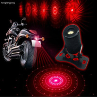 Super Cool 3D Motorcycle Laser Light Motorcycle Spotlight Taillight Projection Tail Light Rotate 6 Patterns Free