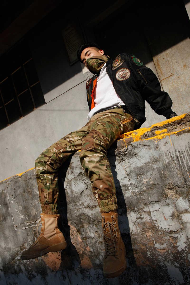 Militaire Uk Cp Outdoor Camouflage Cargo Broek Voeten Locomotief Tactische Broek Streetwear Mannen Wilde Sport Jacht Broek