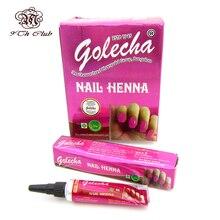 1 sztuka Indian GOLECHA Henna wklej tatuaże do ciała, Mehndi kolorowe Henna muzułmanin Nail polski wklej szyszki dla islamski naturalny Nail Art