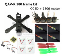 DIY FPV mini drone QAV-R 180 quadcopter pure carbon frame kit frame + 1306 3100KV motor + dragonfly 6A ESC 2-4S + CC3D / NAZE32