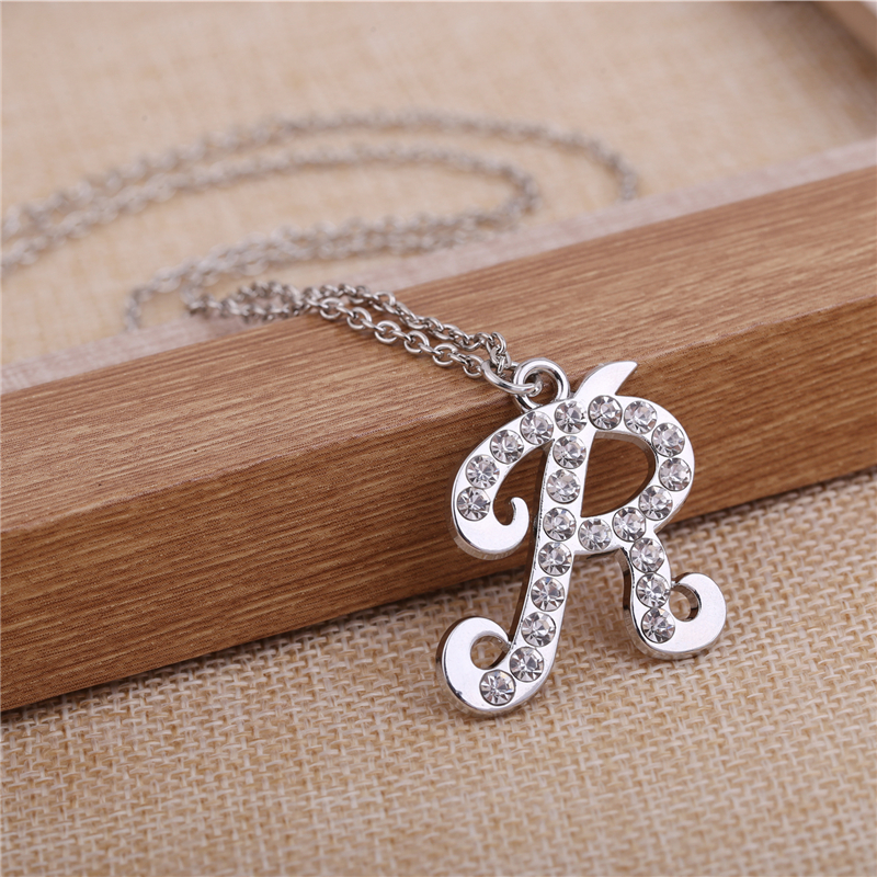 Skyrim exquisite sliverrose gold women jewelry crystal pendant skyrim exquisite sliverrose gold women jewelry crystal pendant necklace personalized initial letter r necklace girlfriend gift in pendant necklaces from mozeypictures Choice Image