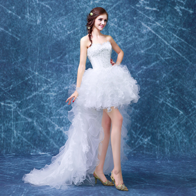 WB483 China Wedding Dresses With Detachable Train Ruffle Appliques ...
