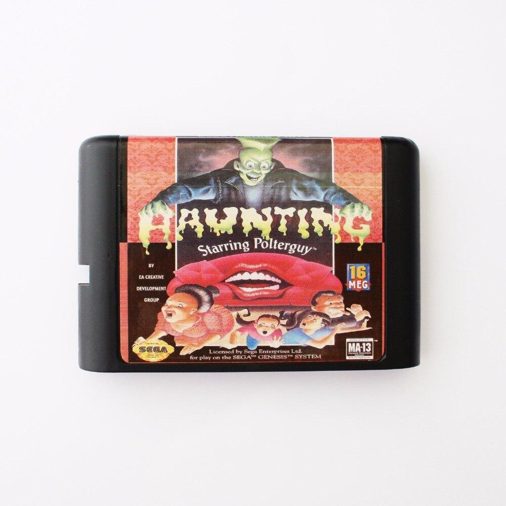 Haunting The Starring Poter Guy 16 bit SEGA MD Game Card For Sega Mega Drive For Genesis