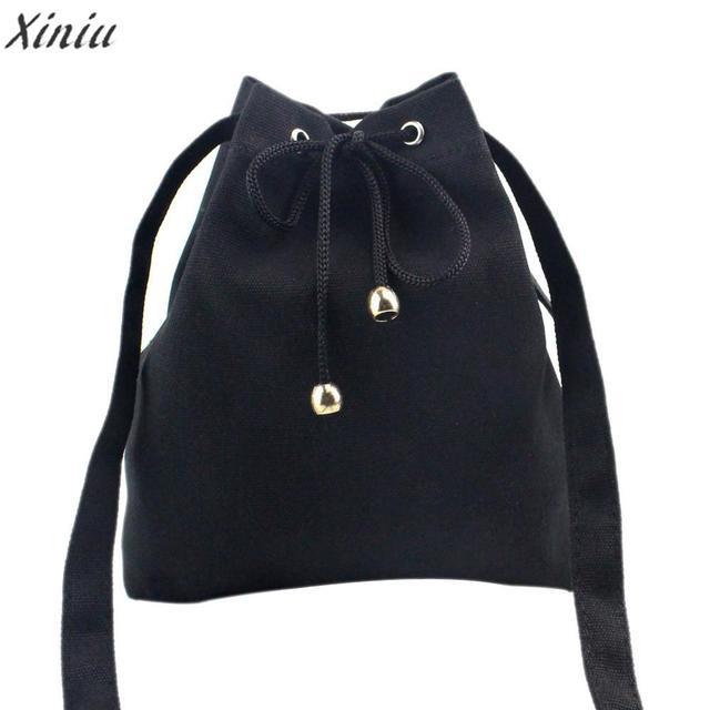 women bag  Fashion Canvas Drawstring Handbag Shoulder Bag Large Tote Ladies Purse shopping bag high quality bolsa feminina #5