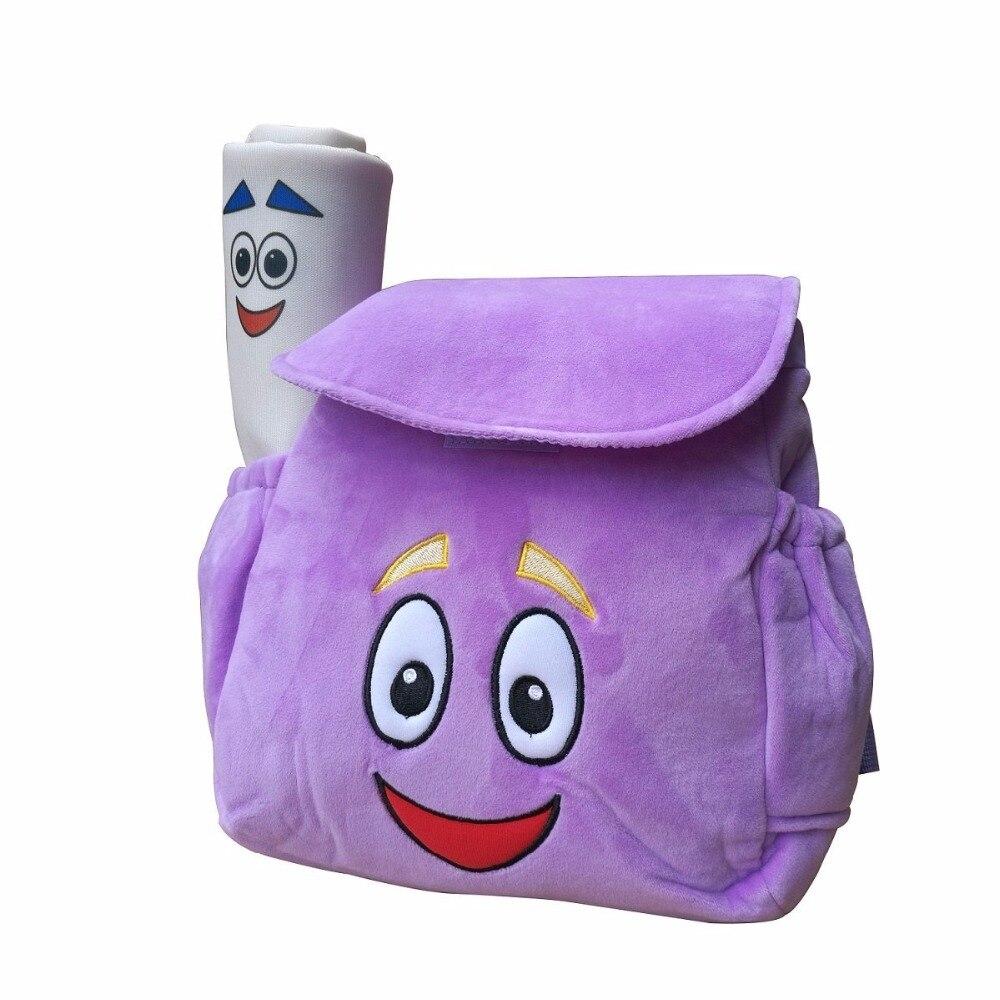 IGBBLOVE Dora Explorer bolsa de rescate de mochila de felpa suave con mapa, color rosa púrpura envío gratis