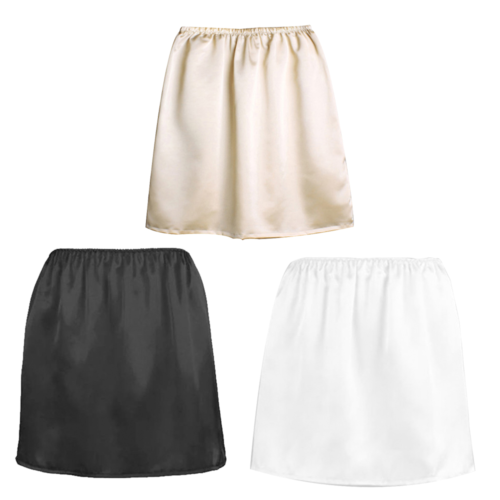 2019 summer new fashion female anti-moistur lining skirt solid color Slim anti-static comfort anti-light skirt inside skirt(China)