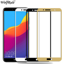 Full Cover Tempered Glass For Huawei Honor 7C Screen Protector 5.99 Honor 7C Glass 9H HD Protective Film Honor 7C AUM-L41 5.7 2pcs for huawei honor 7c pro honor 7c full cover tempered glass screen protector protective glass for huawei honor 7c pro
