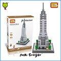 Mr. froger loz diamond block world famous architecture edificio chrysler de nueva york ee. uu. bloques de construcción de ladrillos de juguete casa de ciudad torre