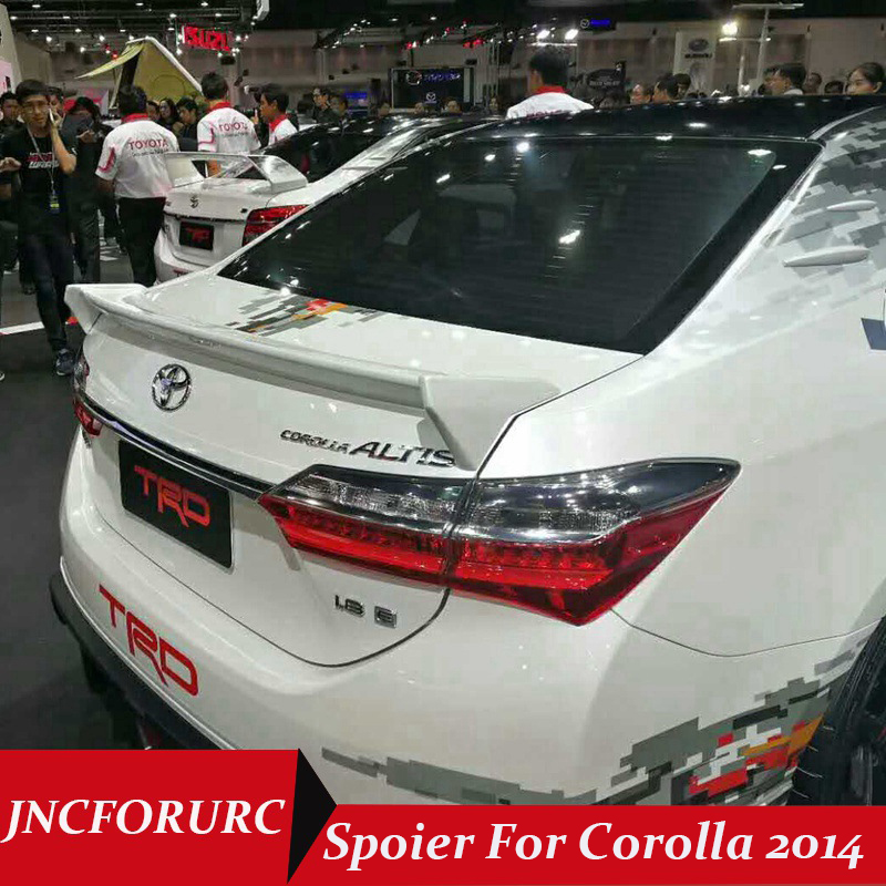 Real Carbon Fiber Duck Tail Trunk Spoiler Lip Wing fits 2009-2013 Toyota Corolla