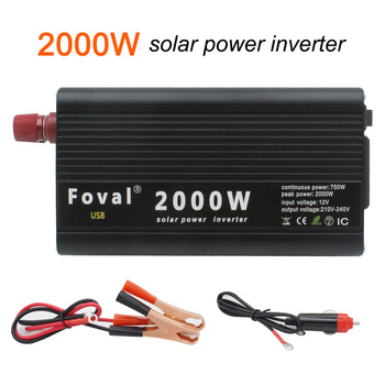 цена на 2000W Solar car power inverter 12v to 220v Auto Inverter Modified Sine Wave dual usb port  and Cigarette Lighter Plug Power