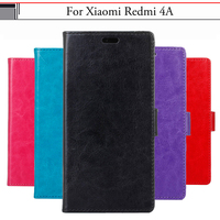 EiiMoo Case For Xiaomi Redmi 4A Fundas Coque Wallet Flip Leather Silicone Back Bags Cover For