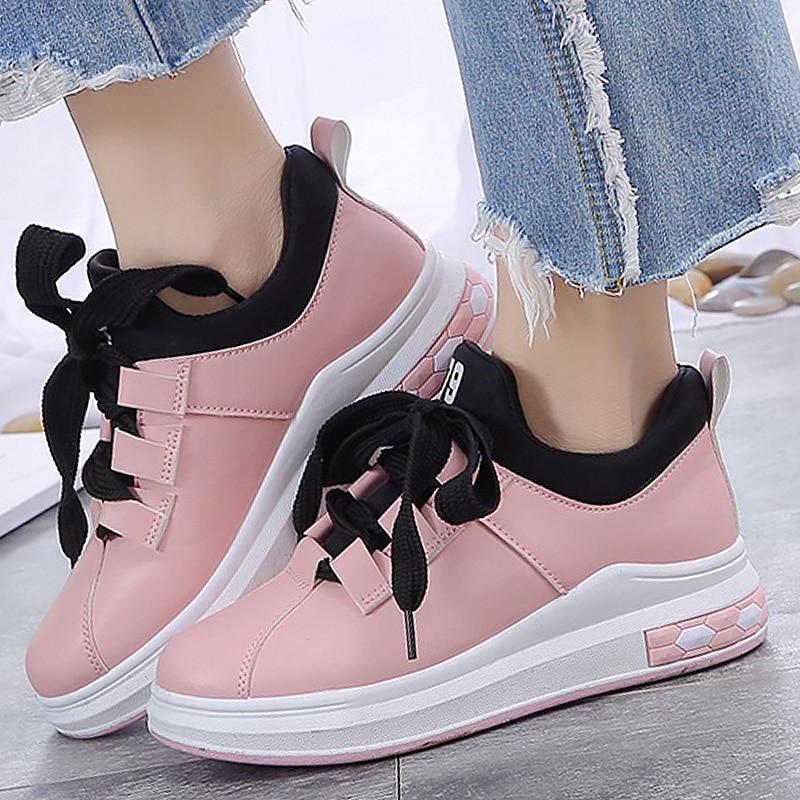 Танкетке повседневная обувь женская обувь на платформе пикантные Бабочка-узел модные кроссовки для девочек увеличивающие рост Женские кро... ...