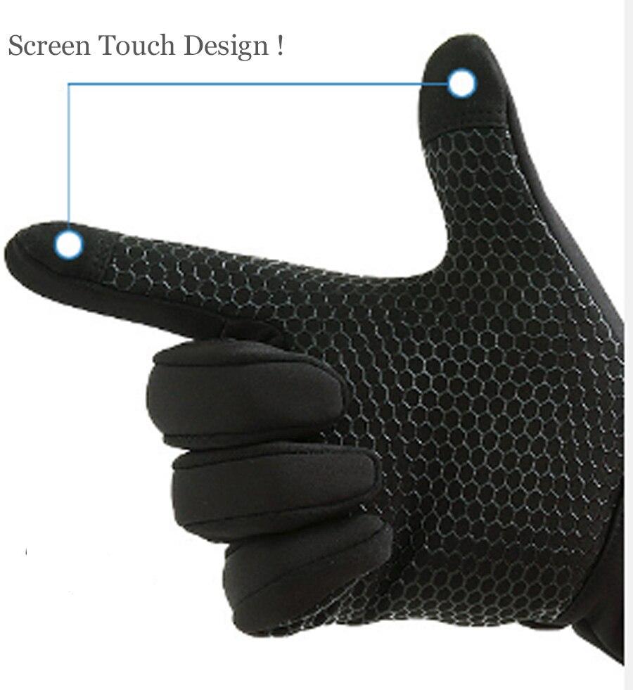 Flying ROC touch screen proof gloves women men outdoor sports winter warm mittens anti slip waterproof gloves fashion guantes in Men 39 s Gloves from Apparel Accessories