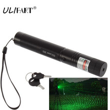 ULIFART Военная лазерная ручка Мощный зеленый лазерная указка 303 Регулируемый фокус сжигание лазерный фонарик дропшиппинг