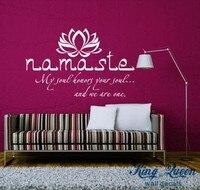 الفينيل ملصق مائي بوذا إقتباس ناماستي اليوغا ماندالا ملصقات الحائط ل غرف المعيشة diy ألوان كثيرة
