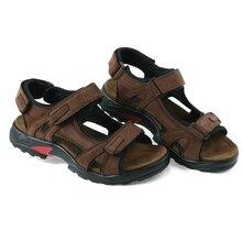 Top quality sandal men sandals summer genuine leather sandals men outdoor shoes men leather sandals plus size 46 47 48