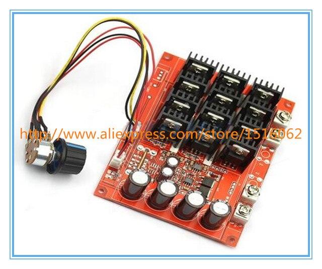 J34 DC 10-50 V 60A Do Motor de Controle de Velocidade PWM HHO RC Controlador 12 V 24 V 48 V 3000 W MAX