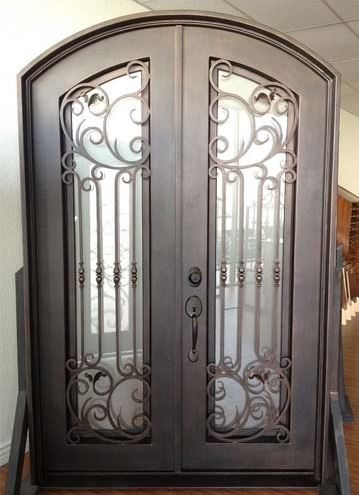 Custom Design Forged Wrought Iron Front Doors Iron Doors Iron Entry