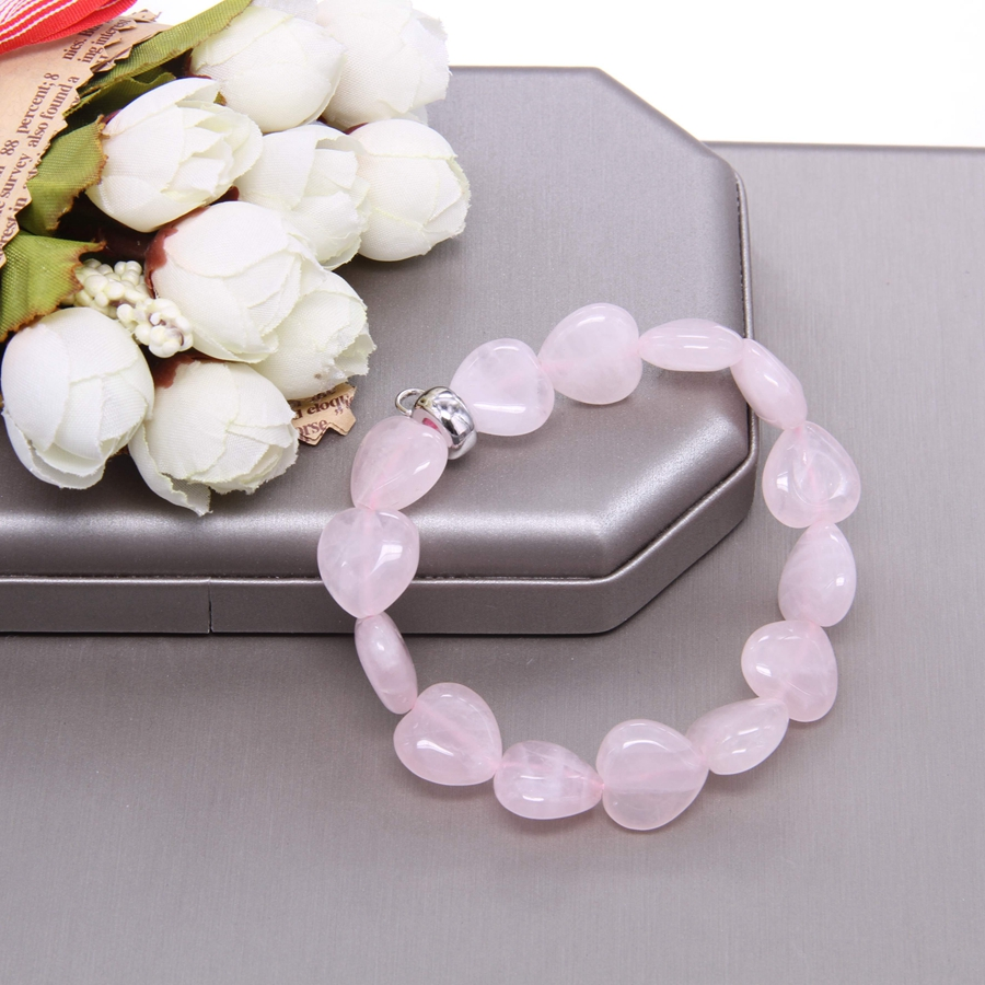 Купить thomas heart shape розовый кварцевый кристалл with charm carrier