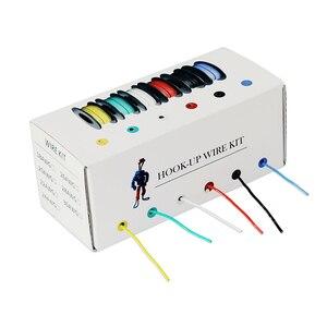 Image 4 - 60 м/коробка, 19 футов, многожильный провод 24 AWG UL3132, гибкая силиконовая электронная проволока, изолированная Луженая медь, 300 В, 6 цветов