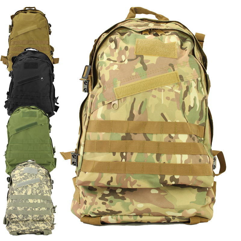 High Quality Men Travel Bags Molle 3d Military Tactical Backpack Rucksack Camping Hiking Trekking 40l Outdoor Sports Backpacks woodland camo sports outdoor military tactical backpack travel bags high quality camping bag hiking trekking bagpack
