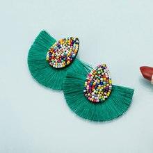 KMVEXO 13 Colors Bohemian Beaded Tassel Earrings for Women S