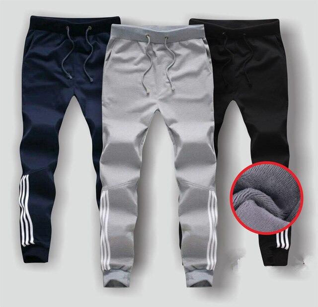 93fdf4547caf Autumn Winter Thick Fleece Jogger Men Pants Cotton Trousers Male Warm  Velvet Sweatpants Tracksuit Jogger Pantalon Homme
