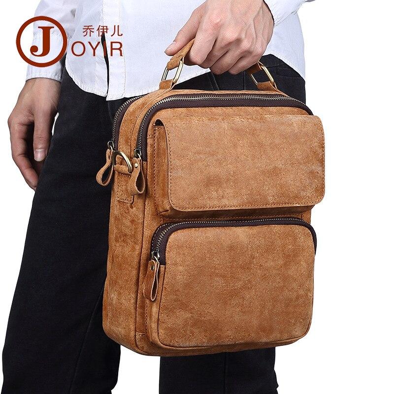 JOYIR 2017 New Men Casual Small Bag Genuine Leather Shoulder Bag Leather Messenger Crossbody Travel Bag Handbag for Men Male