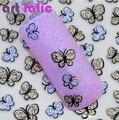 3D Nail Art Mariposa Shinning Glitter Pegatinas Calcomanías Etiqueta Engomada Del Clavo Del Arte Del Clavo de DIY Accesorios