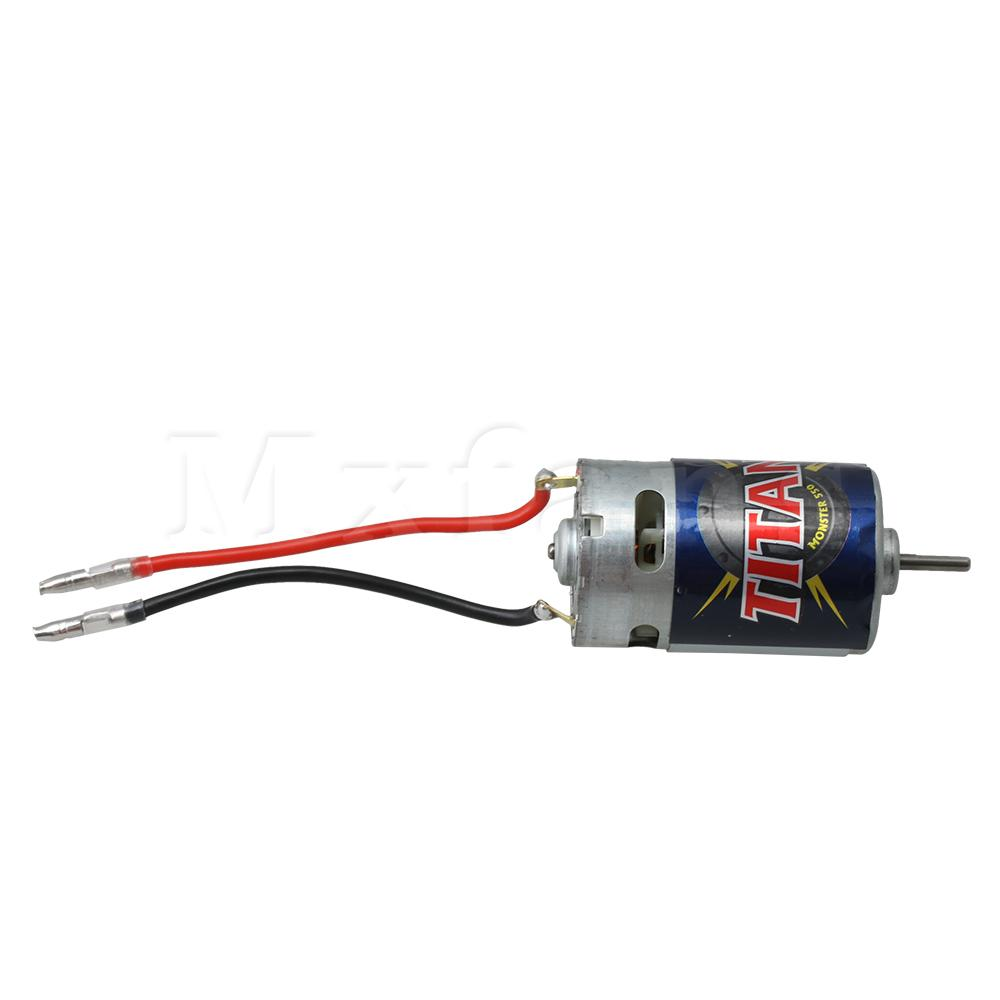 Image 2 - Mxfans RC Vehicle 550 Electric Brushed Motor 3975 3975R 3mm Output Shaft 21T 16.8V for Traxxas Titan Replacement PartsParts & Accessories   -