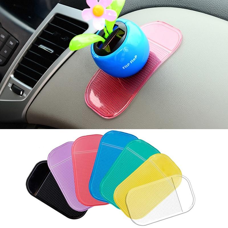 100pcs/lot Car Anti Slip Mat Magic Sticky Pad Mobile Phone Holder For GPS MP3 MP4 Holder Car Dashboard Gel Sticky Anti-Slip Mat