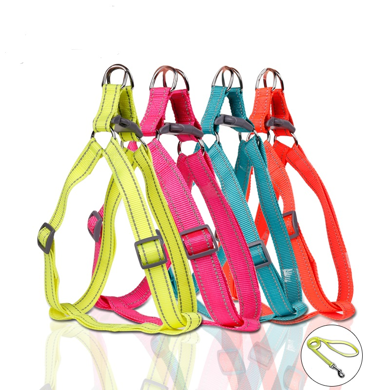 Reflecterend nylon groot hondenharnas Veiligheid Nylon hondenharnas - Producten voor huisdieren