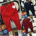 In the autumn of 2016 new boys and girls. It all-match paint cotton jeans comfort hole free shipping