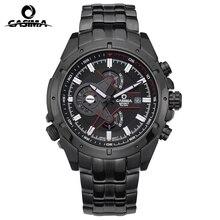 Mode casima Hommes Montres À Quartz Hommes De Luxe de Montre-Bracelet Grande Marque Chronographe Montre Lumineux Horloge En Acier militaire imperméable à l'eau