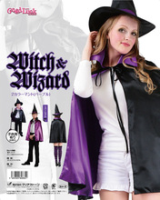 kids adult Christmas Easter Halloween cosplay costumes double witch  cloak hat ,red ,purple