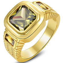 5.5CT Size 8 To 15 Jewelry REd,,Navy Blue/Garnet Zircon stones 18KT Man's Yellow Gold Filled Ring Wedding Gift