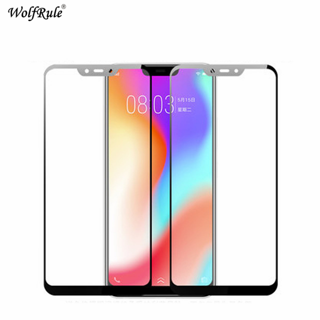 Wolfrule Full Cover Tempered Glass Vivo Y83 Pro Screen Protector For Vivo Y83 Glass 9H Color Protective Film For Vivo Y83 Y83A