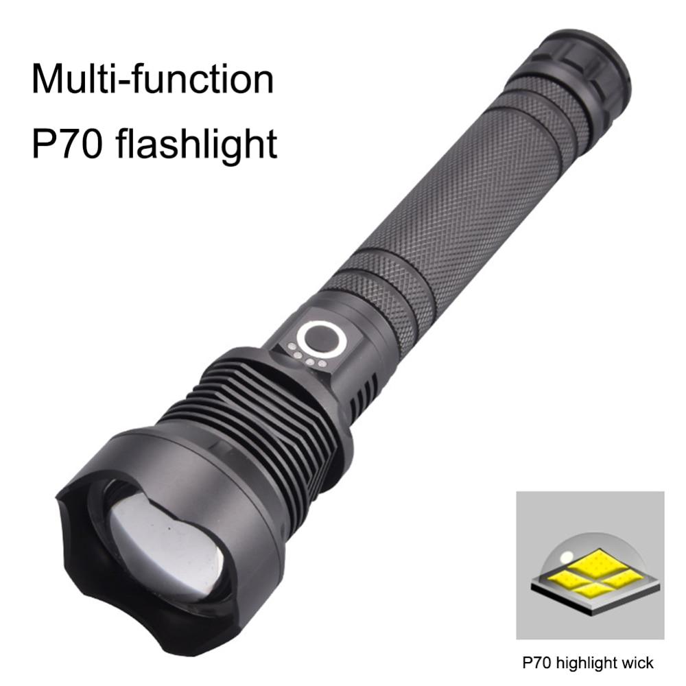 Портативный P70/P50 мощный фонарик светодиодный алюминиевый сплав USB Перезаряжаемый Открытый Кемпинг Охота автомобиль ремонт свет